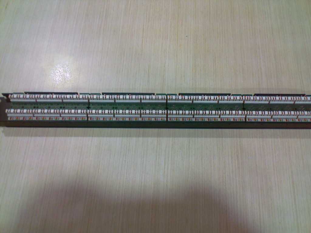 Network Patch Panel - Back View